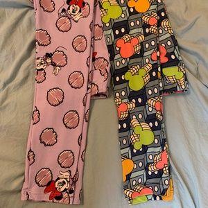 lularoe L/XL leggings - 2 pairs Disney